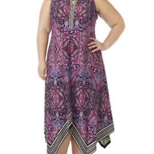 NEW 4X Catherines Dress Paisley
